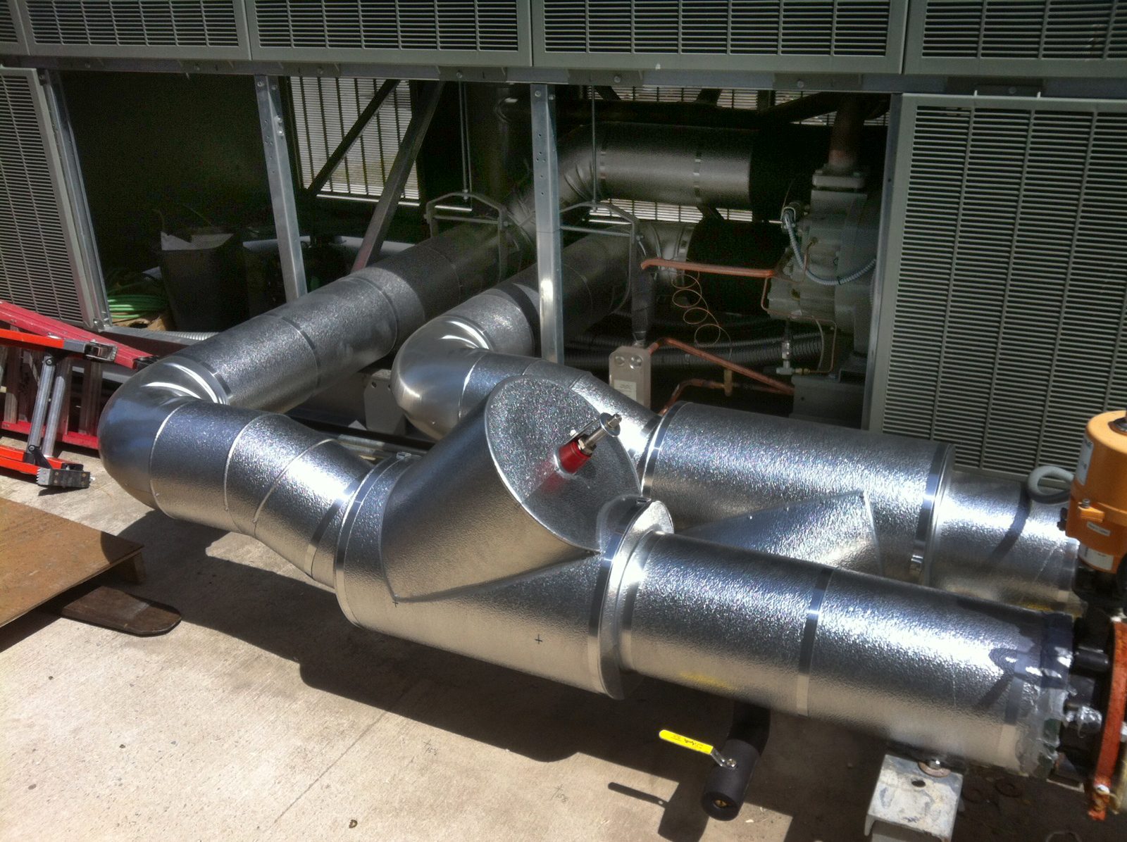 Industrial chiller  6 inch pipe with 6″ 150# flanged valves and  #654132