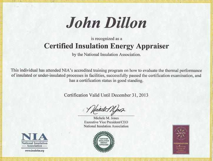 Appraiser certificate