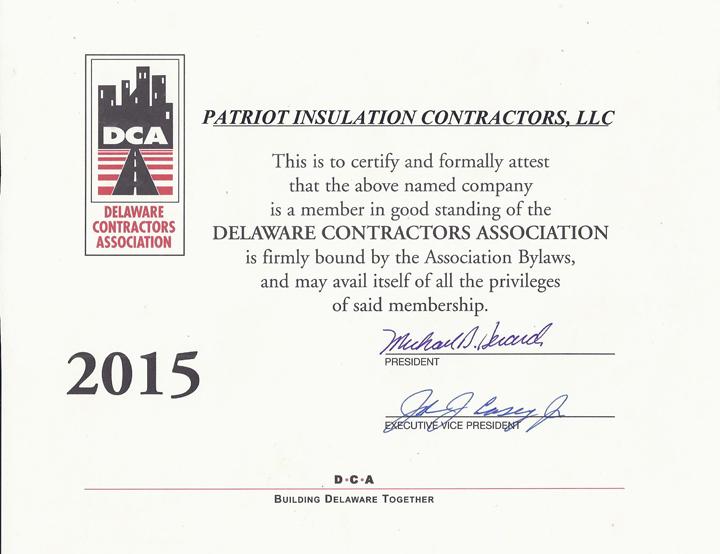 DCA Certificate