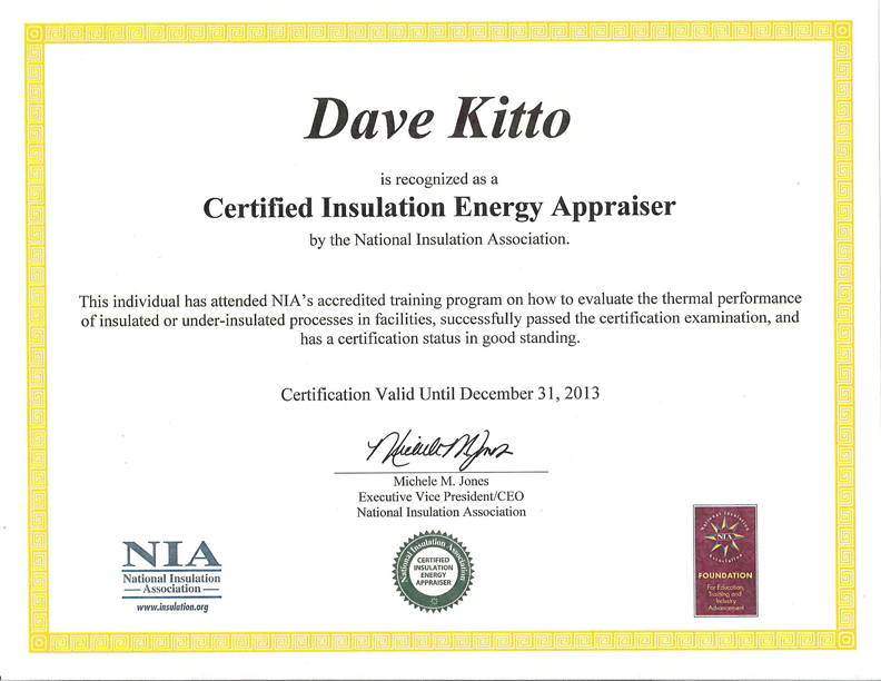 Dave IEAP certificate 2010